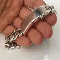 Mens Silver 20mm Identity ID Bracelet | BY Silverwow