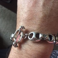 Iron Cross T-Bone Mens Bracelet