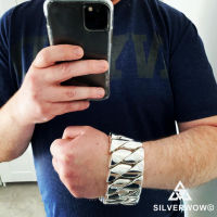 Jonathan with his 1KG Super Heavy and Chunky Bracelet | BY Silverwow
