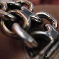 Chunky KBB1 Bracelet Close Up for Men | BY Silverwow