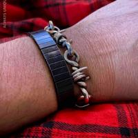 Sterling Silver Barb Wire Bracelet for Men | BY Silverwow