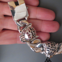 Super Chunky and Heavy Leopard Bracelet for Men | BY Silverwow