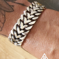 Maciek wearing a 25MM Herringbone Bracelet for Men