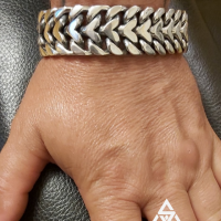 Heavy & Fat Herringbone Bracelet for Men | BY Silverwow