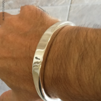 10MM Torc Cuff Bangle for Men   BY Silverwow