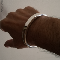 10MM Torc Cuff Bangle for Men | BY Silverwow