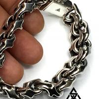 Mexican Garibaldi Identity Sterling Silver Link Bracelet | BY Silverwow