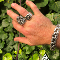 California kissed Sterling Silver Mexican Garibaldi and Skull Ring Jewelry for Men | BY Silverwow