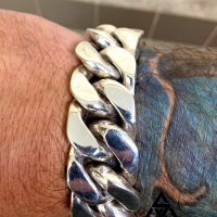 Heavy, Sleek and Chunky 20MM ID Bracelet for Men   BY Silverwow