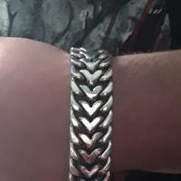 Beautifully crafted Herringbone Bracelet | Artisan Jewellery BY Silverwow