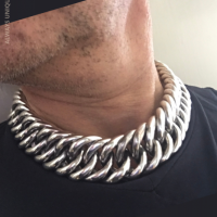 Super Chunky and Heavy Truck Hoop Link Necklace for Men | BY Silverwow