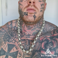 Sam from Grays, Essex England wearing his 15MM Belcher Chain | BY Silverwow