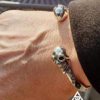 Sleek, Unique Skull Cuff Bangle for Men | BY Silverwow