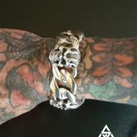 Chunky, Super Heavy Skull Curb Sterling Silver Bracelet for Men | BY Silverwow