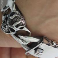 Skull Curb Bracelet for Men | BY Silverwow