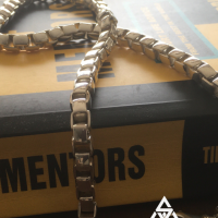 Unique, Sleek Box Chain Necklace for Men | BY Silverwow