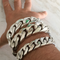 Chunky Curb Truck Bracelets Solid Sterling Silver | BY Silverwow