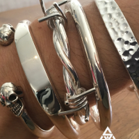 Unique, Chunky, Quality Sterling Silver Bracelets for Men| BY Silverwow