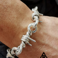 Men's Sleek and Unique Barb Wire Bracelet | Sent in by Wayon from Singapore