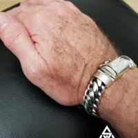 Chunky, Heavy 15MM Woven Snake Silver Bracelet for Men | BY Silverwow