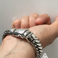 Darren with the 15MM Super Chunky Woven Snake Bracelet | BY Silverwow