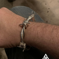 UAE Customer wearing our Barb Wire Bangle | BY Silverwow