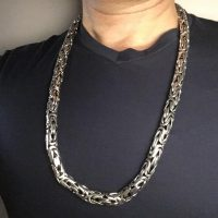 12mm Bali Byzantine Necklace by a customer