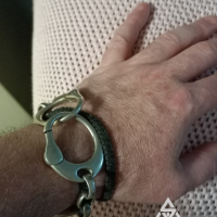 Matt and his super unique Handcuff Bracelet for Men | BY Silverwow