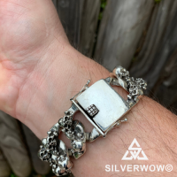 Chunky and Heavy Skull Bracelet by Norbert