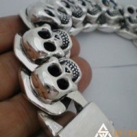 KBB 23 Heavy Skulls Bracelet for Men | BY Silverwow