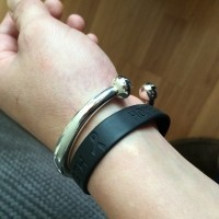 Chunky and Heavy Men's ID Torque Bangle