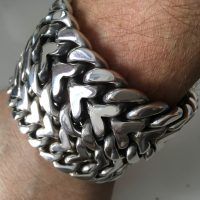 25mm Herringbone Bracelet