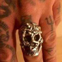 SIlverwow Naked Skull Ring