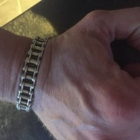 Unique Silver Bike Chain Bracelet