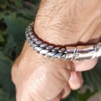 Finely Woven Snake Bracelet - 10MM Men's Design