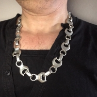 Spanner Wrench Silver Necklace for Men