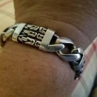 Triple Strand Bali Silver Bracelet worn by Carla