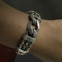 Triple Strand Bali Byzantine Bracelet