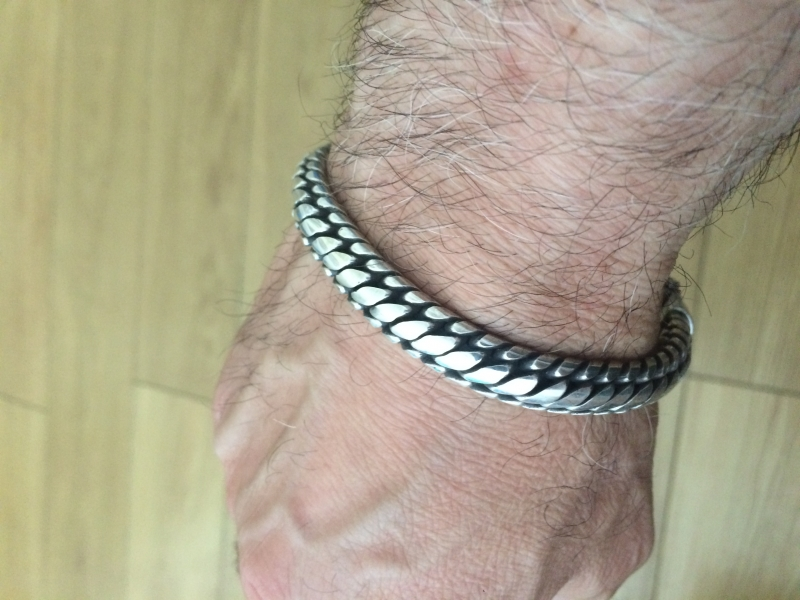 Mens 10mm Woven Snake Bracelet