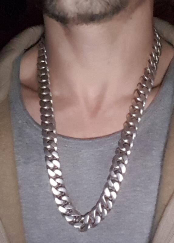 24 inch silver curb chain
