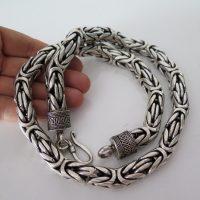 Heavy Byzantine Chain Necklace 12mm