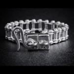 Bike Chain Bracelet 925 Sterling Silver