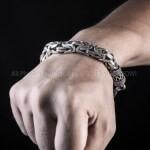 Very Heavy Byzantine Bracelet x 10mm wide