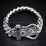 Unusual Mens Buckle Clasp Bracelet