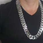 Chunky Stainless Steel Necklace 25mm x 28 inch