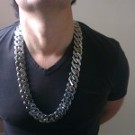 """Heavy Mens Stainless Steel Necklace 25mm x 26"""""""